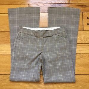 Theory Flare Plaid Pants, Like New!